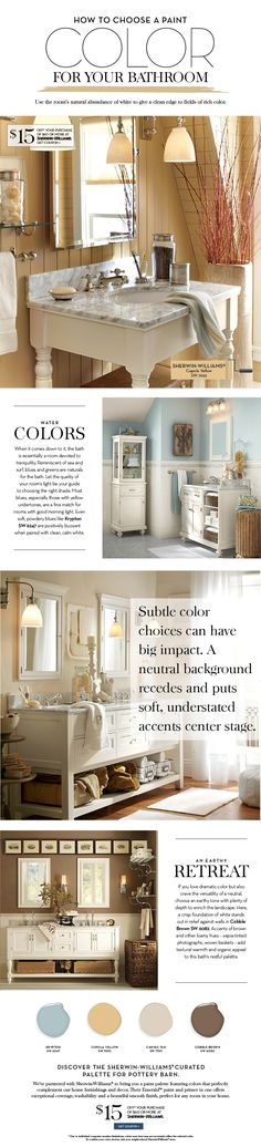 Choose a Paint Color For Your Bathroom   Pottery Barn Sherwin Williams Cupola Yellow SW7692
