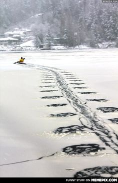 Kayaking through the ice