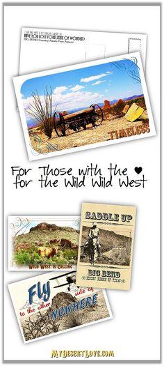 Wild West Texas Love is Timeless -  Handmade Postcard, Outdoors Desert Travel, Big Bend, Digital photo, 4x6 or 5x7