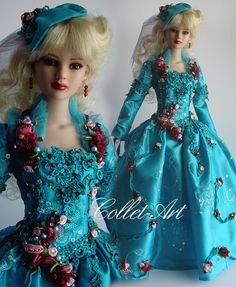 "https://flic.kr/p/rDDuJs | Tonner 22"" American Model OOAK Fashion ""Drifting Roses"" Collet-Art"