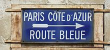 La route bleue ou route nationale 7