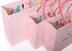 Packaging design for custom fashion retail shopping bag. Design of two unique…