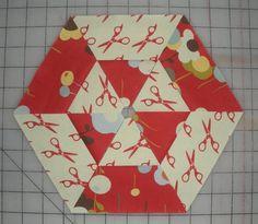 hexagon quilt along... block #1 | Jaybird Quilts (how to make the block)