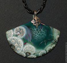 Купить Одуванчиковые фантазии2 - зеленый, лаковая миниатюра, роспись по камню, живопись маслом