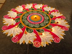 Latest Best Award Winning Rangoli Designs for Diwali with Diya & Flower Themes for Competitions, Simple Easy Deepavali Rangoli Patterns, Beautiful HD Images Rangoli Designs Latest, Rangoli Designs Flower, Colorful Rangoli Designs, Rangoli Ideas, Rangoli Designs Diwali, Rangoli Designs Images, Diwali Rangoli, Flower Rangoli, Beautiful Rangoli Designs