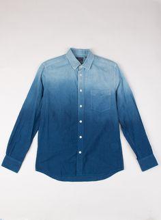 Pure Indigo Gradation Cotton LS Shirt