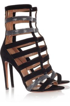 Suede and stingray sandals s by Azzedine Alaia
