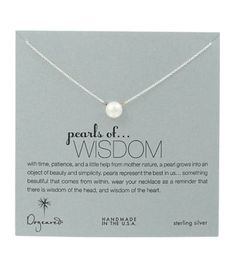 Dogeared Large Pearls of Wisdom White Pearl Necklace, Sterling Silver – Blue Daisy