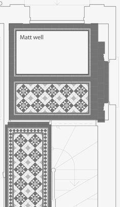London Mosaic Victorian Tile Design Colliford 50 Multi Coloured Monochrome Traditional