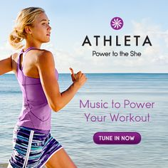 Music makes your run faster, pedal harder, lift longer. A few weeks ago we asked you to submit your favorite workout songs. Together with Pandora Internet Radio, we collected over 2,000 entries and have compiled the best to create the Athleta Power to the She Mix Tape to get you pumped up to workout. The most motivating songs. The best beats. All the music for rocking out while working out! Tune in now! (www.pandora.com/athleta)