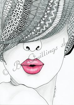 "Original Zentangle Art ""Kiss Me"" Print A4/A3 size by BestQuillings on Etsy https://www.etsy.com/listing/206275854/original-zentangle-art-kiss-me-print"
