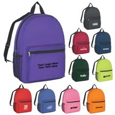 0718f9c2ca Custom Imprinted Budget Backpacks. Brand PromotionNavy PinkRoyal ...