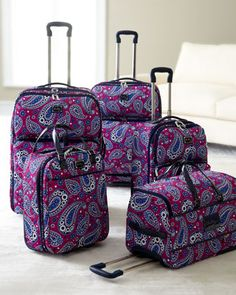 "I need for my travels.....""Boysenberry"" Luggage by Vera Bradley! Christmas list"