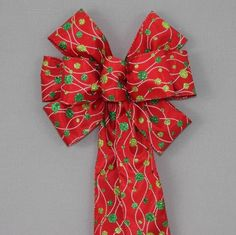 Dotted Line Glitter Dots Christmas Wreath Bow