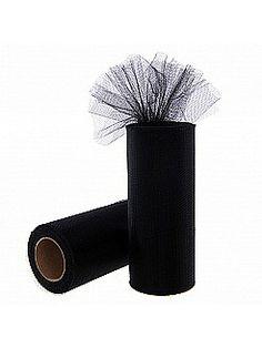 Black Tulle Spool Roll Tutu Wedding Gift Bow - USD $1.99