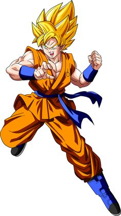 Super Saiyan Goku (Fukkatsu no F) by RayzorBlade189