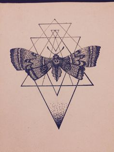 Moth, tattoo design, black