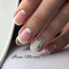 25 Outstanding Classy Nails Ideas For Your Ravishing Look ❤️ Sweet Half Moon Nail Art Design ❤️ Classy nails are the one perfect element that your finished look is lacking. Easy Nails, Simple Nails, Cute Nails, Pretty Nails, Bride Nails, Wedding Nails, Classy Nail Designs, Nail Art Designs, French Nails