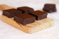 Raw Fudge Brownies with Chocolate Frosting
