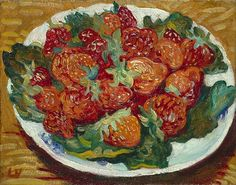 Louis Valtat -  Still Life with Strawberries,  Late 19th - early 20th century