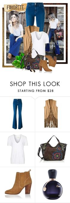 """""""Blogger Style: Jeans / T-Shirt and Fringe vest"""" by giovanadoll ❤ liked on Polyvore featuring STELLA McCARTNEY, Topshop, Desigual, River Island and Lacoste"""