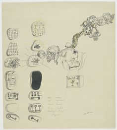 """Dalí had recently joined the Surrealist movement when he executed this drawing, which served as the frontispiece for the """"Second Surrealist Manifesto"""" when it was published in a limited edition of sixty copies in 1930."""