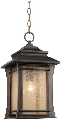 Franklin Iron Works Hickory Point Hanging Outdoor Light -