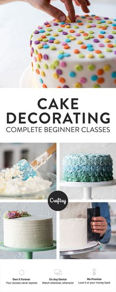 Want to start cake decorating but don't know where to start? Enroll in #startuplibrary cake decorating!