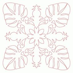 Machine Embroidery: Hawaiian Quilt Block Collection 3 (5x5)