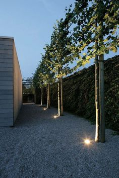 interesting lighting idea  gravel-perimeter–french-drains-modern-houses-gardenista-3