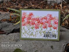 Artistic Embellishments: Sneak Peek.... Painted Petals You are amazingly AMAZING!