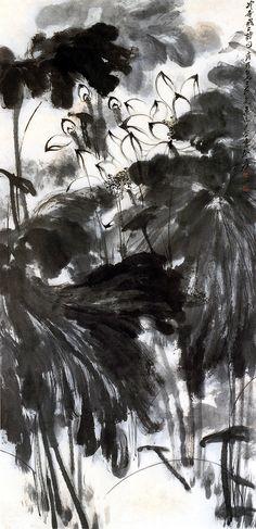 Zhang Daqian(張大千, 张大千,Chinese, 1899-1983) Lotus