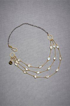 BHLDN moonstone necklace