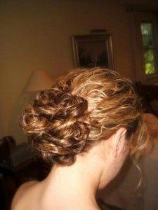 curly bun- my hair!!!