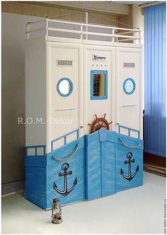 Детская ручной работы. Заказать Комплект детской мебели в морском стиле. R.O.M. - Dekor. Ярмарка Мастеров.