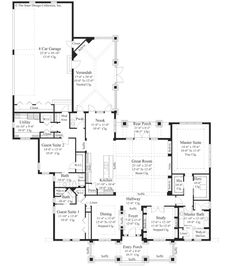 Bungalow Style House Plan 3 Beds 5 Baths 3108 Sq Ft 930