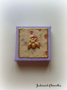 """Mini toile décorative série """" Songes de fleurs """" n°14 : Accessoires de maison par jademiel-etincelles"""