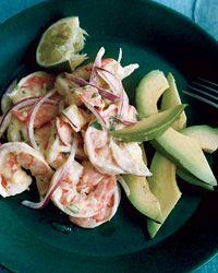 Shrimp-and-Avocado Salad with Mango Dressing