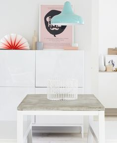 DIY concrete-topped accent table // IKEA