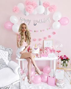 Pin by FDT Head on Pink Dresses Collection 2019 in 2020 Birthday Goals, 25th Birthday, Girl Birthday, Birthday Parties, Cute Birthday Pictures, Birthday Photos, Adult Cake Smash, Birthday Photography, Everything Pink
