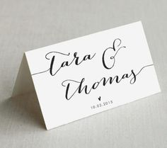 This listing is for customized PRINTABLE wedding escort place cards designed for easy DIY printing either at home or with a professional