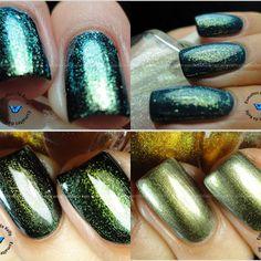 Duochrome franken nail polish pigments
