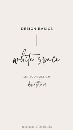 If I could only pick one term to learn as a designer it would be ' white space .' It makes a HUGE difference in your work when you learn how to use it. Web Design Basics, Web Design Trends, Web Design Tutorials, Web Design Inspiration, Logo Branding, Branding Design, Logo Design, Logos, Layout Design