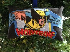 Wolverine Appliqued Christmas Ornament Marvel Avengers Super Hero X-Men Mutant…