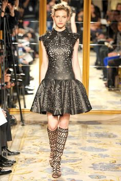 Best Dresses From Marchesa Fall 2012 and Christian Louboutin boots