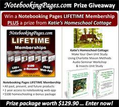 NotebookingPages.com & Katie's Homeschool Cottage Giveaway