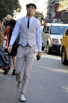 Another vest. A 1920s look is starting to creep into men's fashion ... LOVE