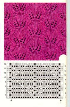 Вязание спицами Loom Knitting Stitches, Lace Knitting Patterns, Cable Knitting, Knitting Charts, Lace Patterns, Stitch Patterns, Crochet Motif, Knit Crochet, Knitting For Kids