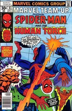 Marvel Team-Up #61  Featuring Spider-Man and the Human Torch  Marvel Comics Group  September 1977  $.30