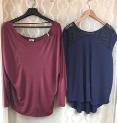 ecea165b0b84d Lot Of 2 Womens Plus Size XXL (2XL) Old Navy Shirts Blue Maroon